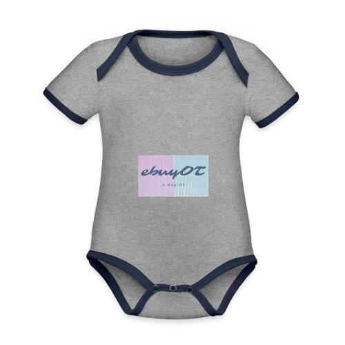ebuyot - Body da neonato a manica corta, ecologico e in contrasto cromatico