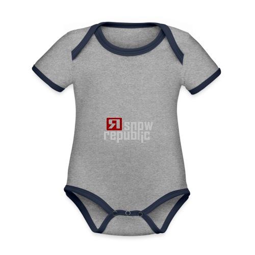 SNOWREPUBLIC 2020 - Baby contrasterend bio-rompertje met korte mouwen