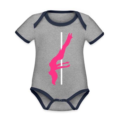 Pole Dance Pole Dancing - Body da neonato a manica corta, ecologico e in contrasto cromatico