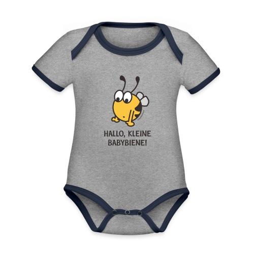 Hallo, kleine Babybiene! - Baby Bio-Kurzarm-Kontrastbody