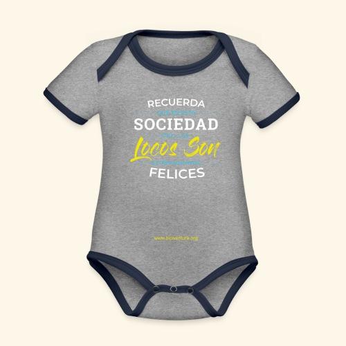 Extremadamente Felices - Body contraste para bebé de tejido orgánico