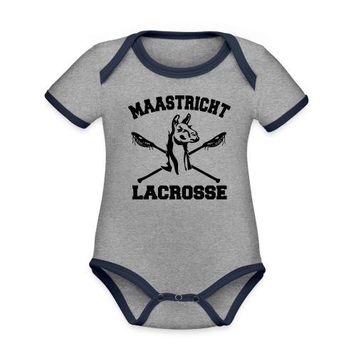 Maastricht Lacrosse - Black - Baby contrasterend bio-rompertje met korte mouwen