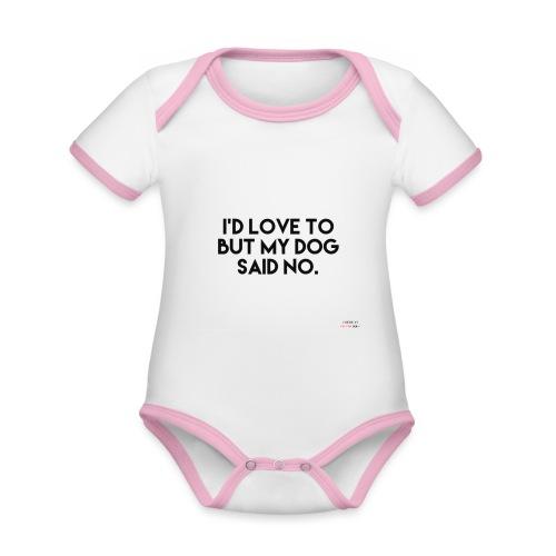 Big Boss said no - Organic Baby Contrasting Bodysuit