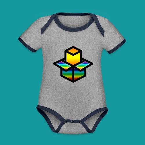 Unboxing - Baby contrasterend bio-rompertje met korte mouwen