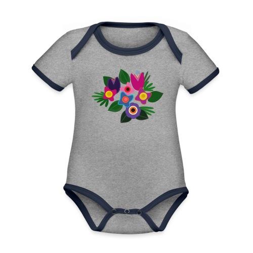 Flowers - Baby Bio-Kurzarm-Kontrastbody
