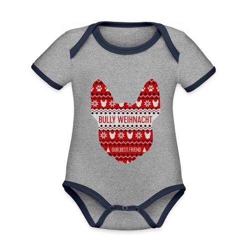 Bully Weihnacht Part 3 - Baby Bio-Kurzarm-Kontrastbody