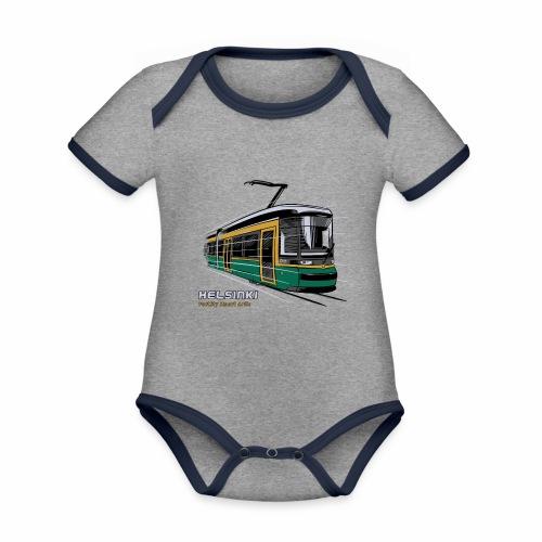 Helsingin Raitiovaunu T-paidat, 154 upeaa tuotetta - Vauvan kontrastivärinen, lyhythihainen luomu-body