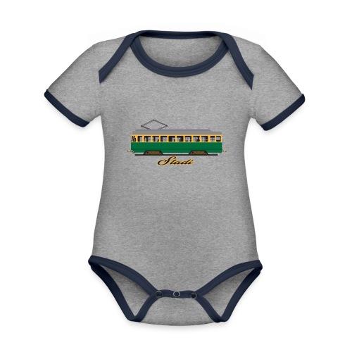 HELSINKI STADI SPORA TEKSTIILIT JA LAHJAT - Vauvan kontrastivärinen, lyhythihainen luomu-body
