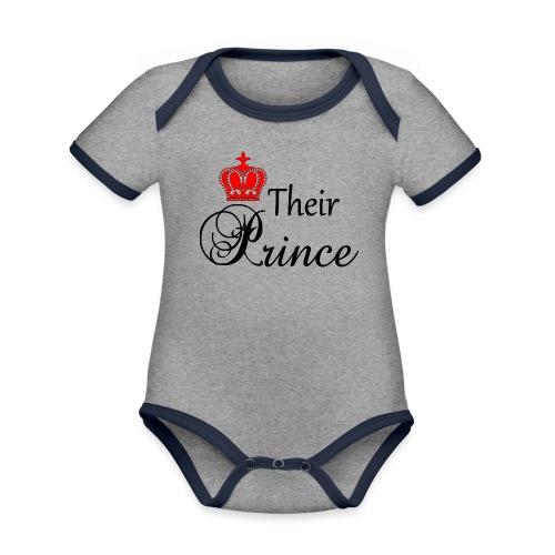 Their Prince - Ekologisk kontrastfärgad kortärmad babybody