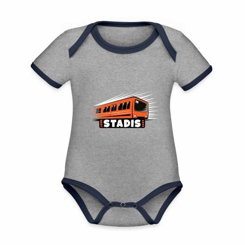 STADISsa METRO T-Shirts, Hoodies, Clothes, Gifts - Vauvan kontrastivärinen, lyhythihainen luomu-body