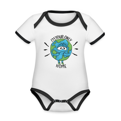 I'm your only home - Organic Baby Contrasting Bodysuit