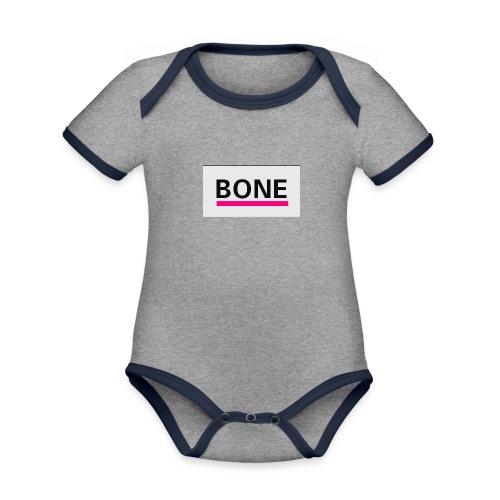BONE - Baby Bio-Kurzarm-Kontrastbody