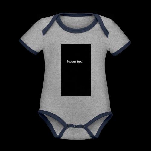 Body design Ranounou dezma - Body Bébé bio contrasté manches courtes