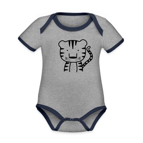Tiger - Baby Bio-Kurzarm-Kontrastbody