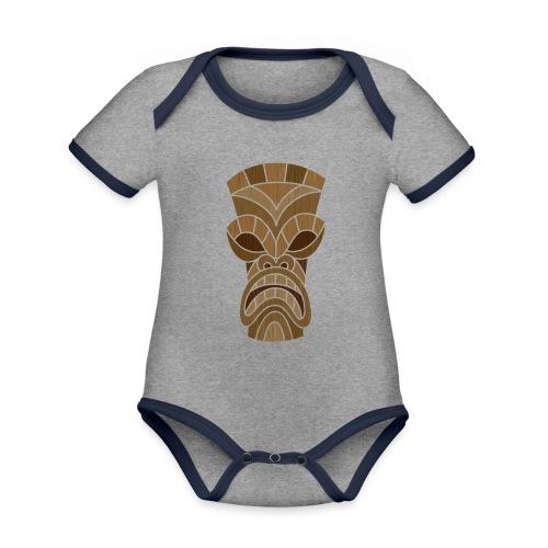 logo2 - Baby contrasterend bio-rompertje met korte mouwen
