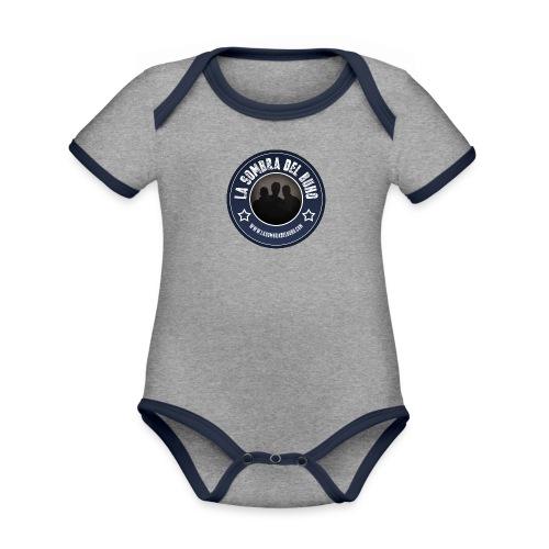 Logo/sombra - Body contraste para bebé de tejido orgánico