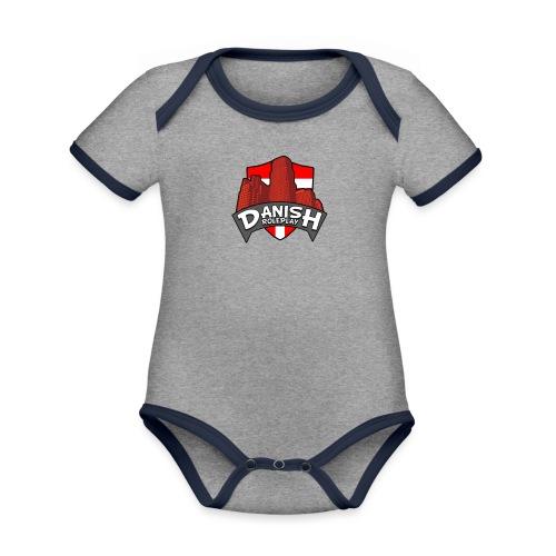 DanishRP Logo - Kortærmet økologisk babybody i kontrastfarver