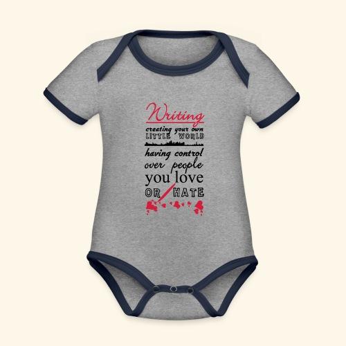 Writing - Organic Baby Contrasting Bodysuit