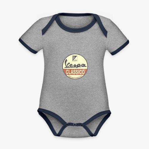Vintage Logo - Baby Bio-Kurzarm-Kontrastbody