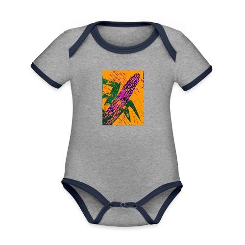 Mais violett - Baby Bio-Kurzarm-Kontrastbody