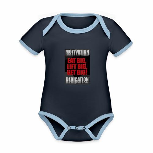 Motivation gym - Ekologisk kontrastfärgad kortärmad babybody