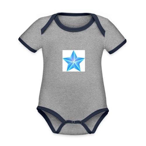 blue themed christmas star 0515 1012 0322 4634 SMU - Organic Baby Contrasting Bodysuit