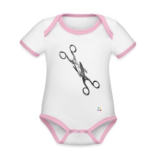 Scissor sisters - Body Bébé bio contrasté manches courtes