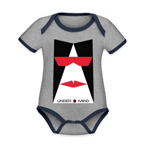 under mind adesivi 10x15 bozza - Body da neonato a manica corta, ecologico e in contrasto cromatico