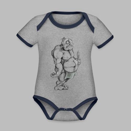Big man - Baby Bio-Kurzarm-Kontrastbody