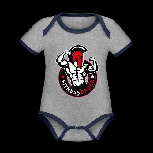 FitnessBauer in Rot - Baby Bio-Kurzarm-Kontrastbody
