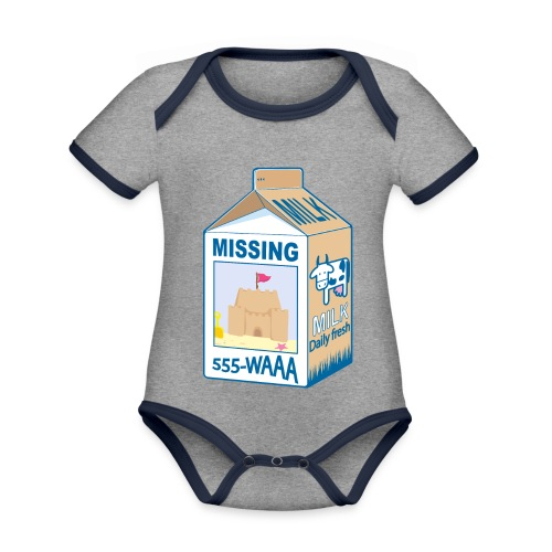 Missing : Sand castle - Organic Baby Contrasting Bodysuit