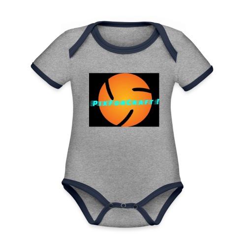 LOGO PixForCraft (Le logo de Juin 2017) - Body Bébé bio contrasté manches courtes