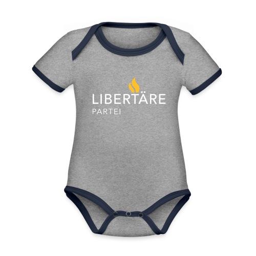 Logo Libertaere Partei - Baby Bio-Kurzarm-Kontrastbody