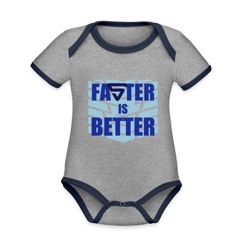 Faster is Better - Body Bébé bio contrasté manches courtes