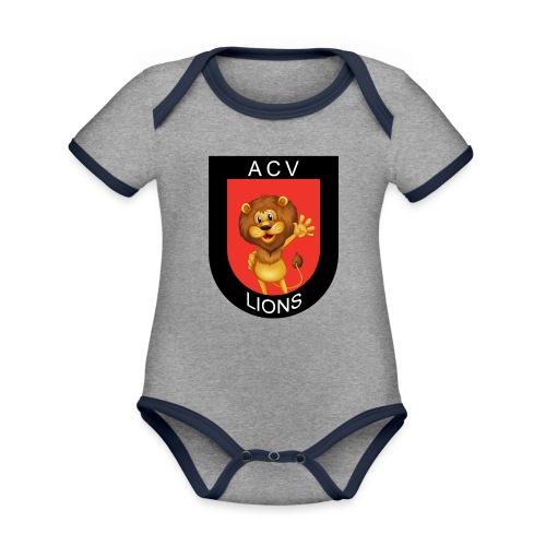 Lions logo - Baby Bio-Kurzarm-Kontrastbody