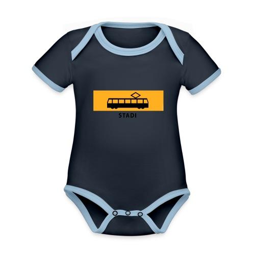 RATIKKA PYSÄKKI KYLTTI STADI T-paidat ja vaatteet - Vauvan kontrastivärinen, lyhythihainen luomu-body