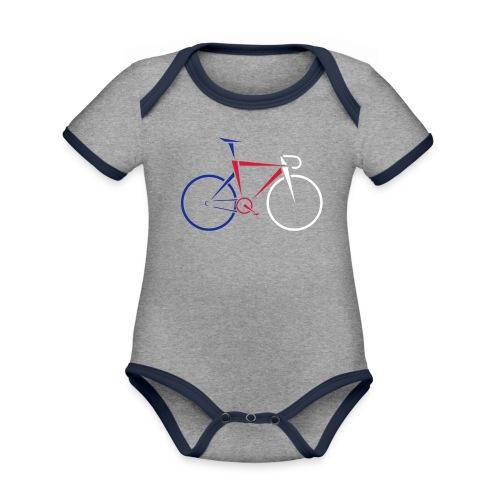 KOLESO | BIKE - Baby Bio-Kurzarm-Kontrastbody