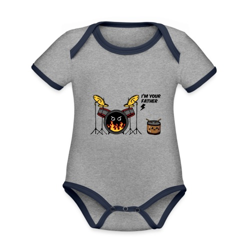 i'm your father drum - Body da neonato a manica corta, ecologico e in contrasto cromatico