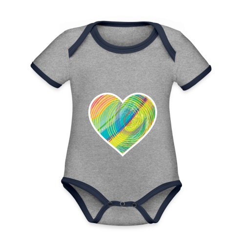 Spread the Love - Organic Baby Contrasting Bodysuit