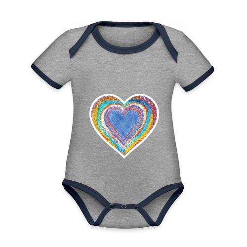Heart Vibes - Organic Baby Contrasting Bodysuit