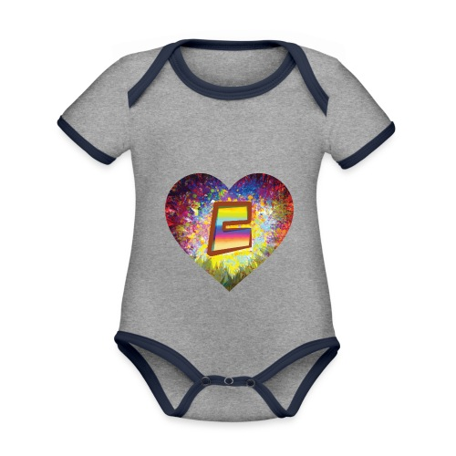 Be a 70th Heart with that special Popper Hippie B - Organic Baby Contrasting Bodysuit