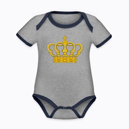 Golden crown - Organic Baby Contrasting Bodysuit