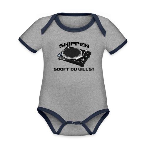 Skippen so oft du willst - Baby Bio-Kurzarm-Kontrastbody
