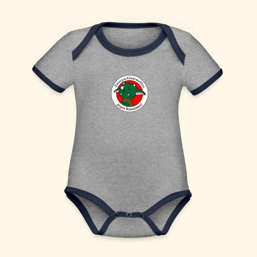 Zwergschlammelfen gegen Rassismus - Baby Bio-Kurzarm-Kontrastbody