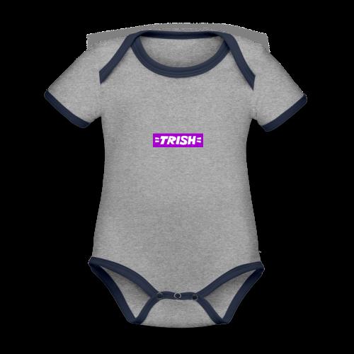 trish logo - Organic Baby Contrasting Bodysuit