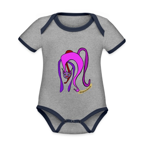 Miaou !!! - Baby Bio-Kurzarm-Kontrastbody