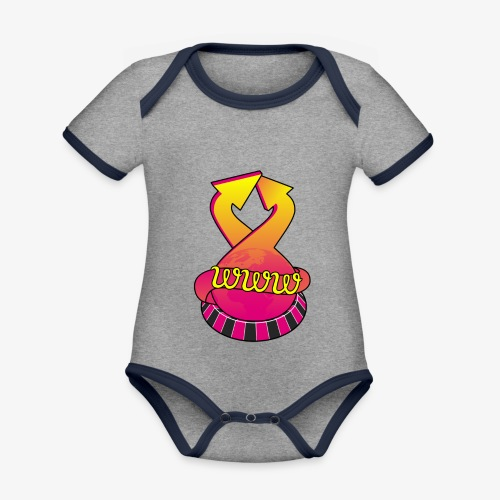 UrlRoulette logo - Organic Baby Contrasting Bodysuit