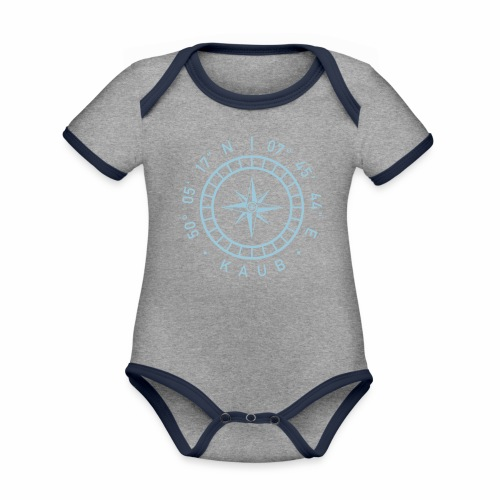 Kaub – Kompass - Baby Bio-Kurzarm-Kontrastbody
