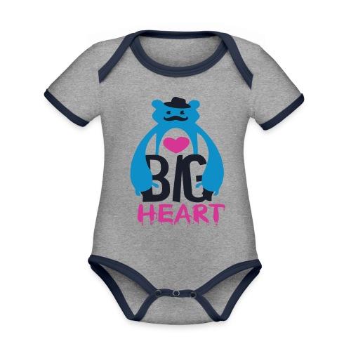 Big Heart Monster Hugs - Organic Baby Contrasting Bodysuit