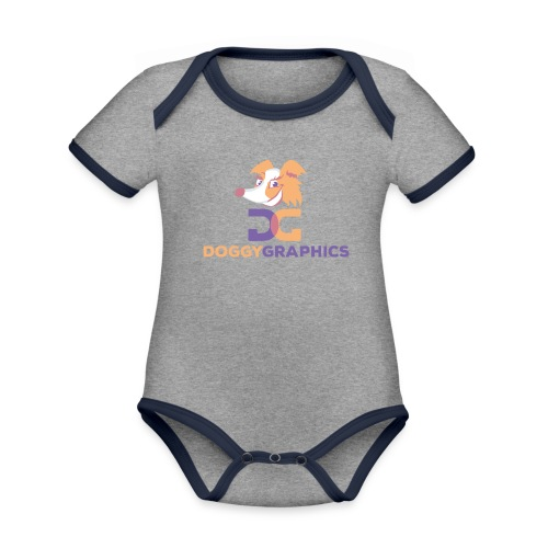 Choose Product & Print Any Design - Organic Baby Contrasting Bodysuit